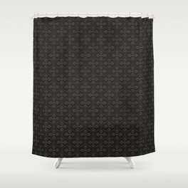 Dark Trellis Shower Curtain