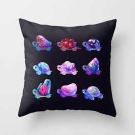 Jewel turtle Throw Pillow