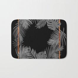 TROPICAL SQUARE COPPER BLACK AND GRAY Bath Mat