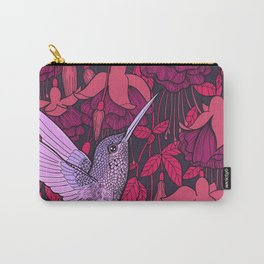 Hummingbird and fuchsia Carry-All Pouch