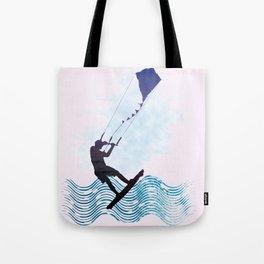 [mis]interpreting kiteboarding Tote Bag
