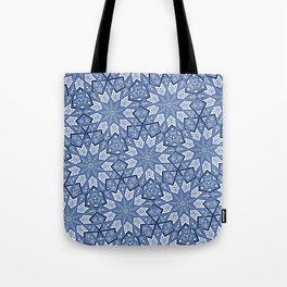 Nine Fold pattern blue Tote Bag