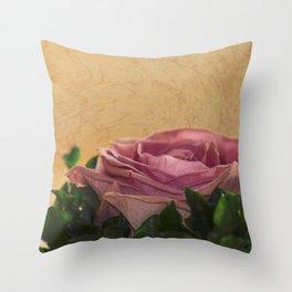 rosea rosa sine aqua Throw Pillow