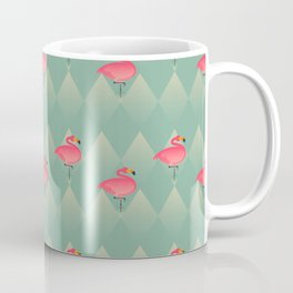 Sugar Flamingo Pattern Coffee Mug