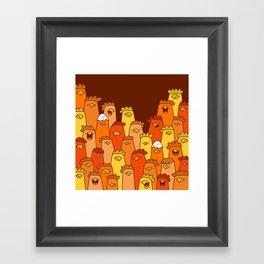 Pile of Clucks Framed Art Print