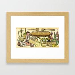 The Joy Of Cooking Framed Art Print