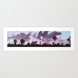 Palms and Power Lines Art Print