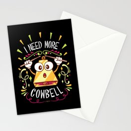 I Need More Cowbell - Funny Music Track Song Meme Illustration Stationery Cards