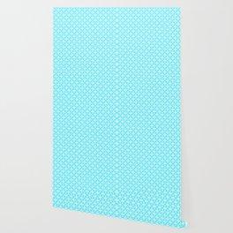Trellis_Blue Wallpaper