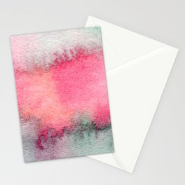 Blue and Pink Marble Watercolor Stationery Cards