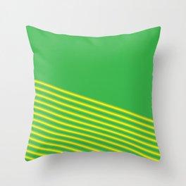 Gren&Yellow Diagonals Throw Pillow