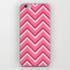 Pink Zig Zag Pattern iPhone & iPod Skin