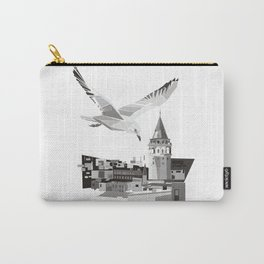 Galata tower & seagull  Carry-All Pouch