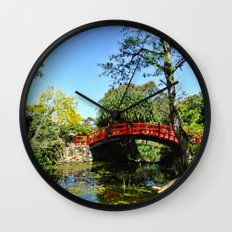 Red Bridge Wall Clock