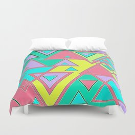 Colorful triangles Duvet Cover