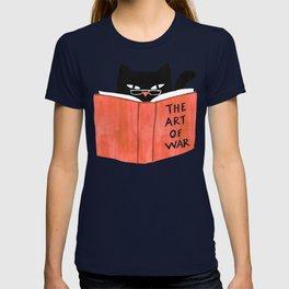 Cat reading book T-shirt