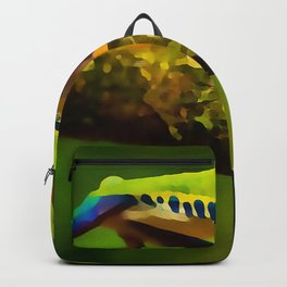 red-eyed tree frog | Watercolor Painting Backpack