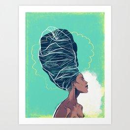 Erykah Badu Art Print