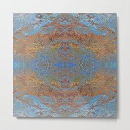 Fall blue geometry Metal Print