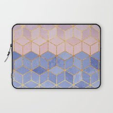 Rose Quartz & Serenity Cubes Laptop Sleeve