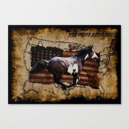 The Pony Express Canvas Print