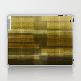 """Burlap Texture Greenery Shades"" Laptop & iPad Skin"