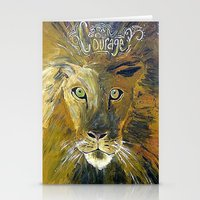 courage Stationery Cards featuring Courage by Anna Hanse