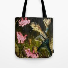 The Demon of Round Cypress Tote Bag