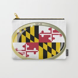 Maryland State Flag Oval Button Carry-All Pouch