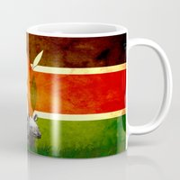 safari Mugs featuring safari by Netoo Maldonado Rivera