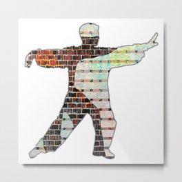 Brick Wall Of Qi Metal Print