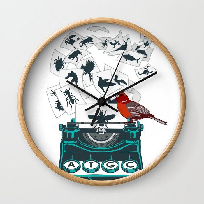 Alphabet of Life Wall Clock