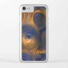 Lazuli and Gold Dimensions Clear iPhone Case