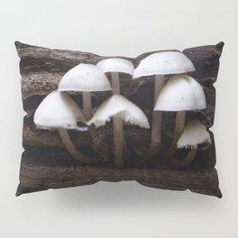 Mushrooms On a Log Pillow Sham