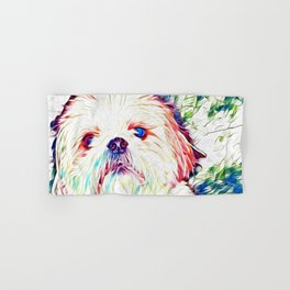 Shih tzu Rainbow Art Hand & Bath Towel