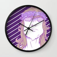 religion Wall Clocks featuring Alt religion by trenzy