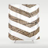 tree rings Shower Curtains featuring Tree Rings by Tyler
