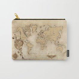 World Map (Here be Dragons!) Carry-All Pouch