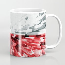 Extruded flag of Poland Coffee Mug