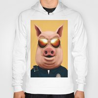 pigs Hoodies featuring PIGS by Brandon Juarez