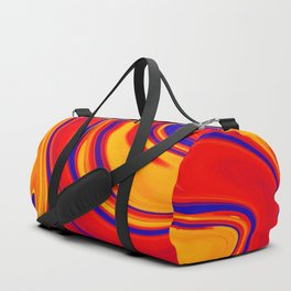 Abstract Bold Colorful Marble Duffle Bag