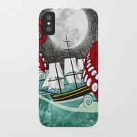 kraken iPhone & iPod Cases featuring Kraken by Beth Naeyaert