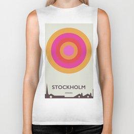 Stockholm,Sweden travel poster, Biker Tank