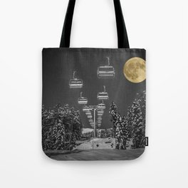 Chair Lift to the Moon Tote Bag