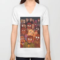 muppets V-neck T-shirts featuring The Muppets by Groovy Bastard