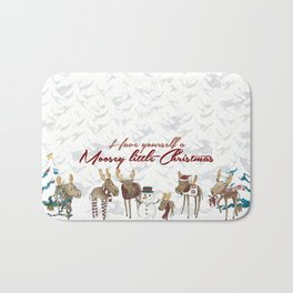 Moosey Little Christmas Bath Mat