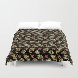 Turkish tulip - Ottoman tile pattern  4 Duvet Cover