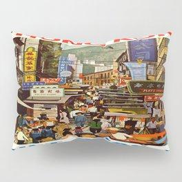 Vintage poster - Hong Kong Pillow Sham