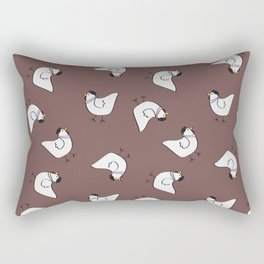 the happy french hen in lilac greige Rectangular Pillow