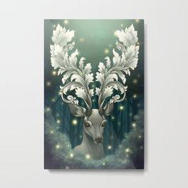 Antlers of Filigree Metal Print
